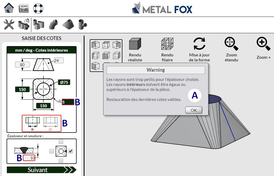 Système de contrôle du logiciel de traçage MetalFox