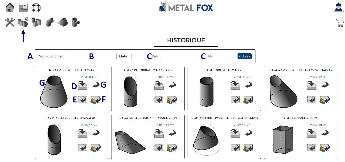 Historique du logiciel de traçage MetalFox
