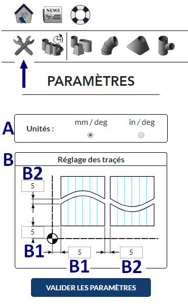 Réglage des paramètres du logiciel de traçage MetalFox
