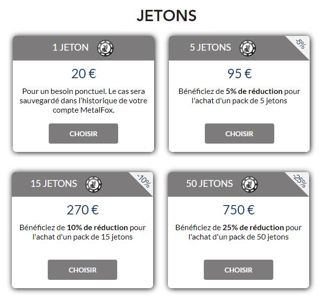 Offre Jetons permanents de l'outil de traçage MetalFox